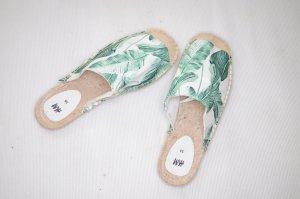 Sandaletten Espadrilles Gr. 38 Sommer, H&M, Palmen Muster