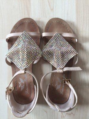 Sandaletten gold, Gr.36