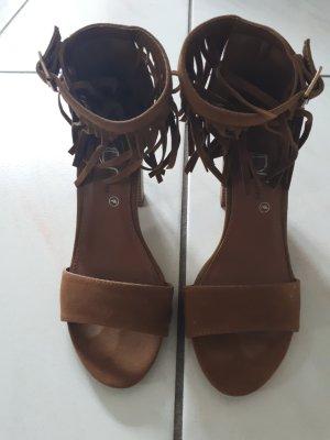 Sandaletten, Gr.34, rehbraun von Divine Factory