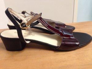 Sandaletten Gr 37 schwarz Burgund neu