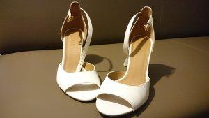 Esprit Sandalo con cinturino e tacco alto bianco Pelle