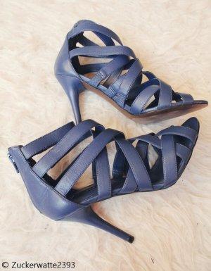 Sandaletten High Heels blau Zara 36