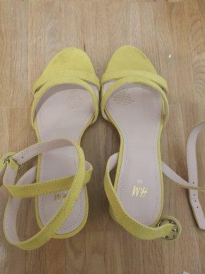 sandaletten high heels gelb H&M NEU 38