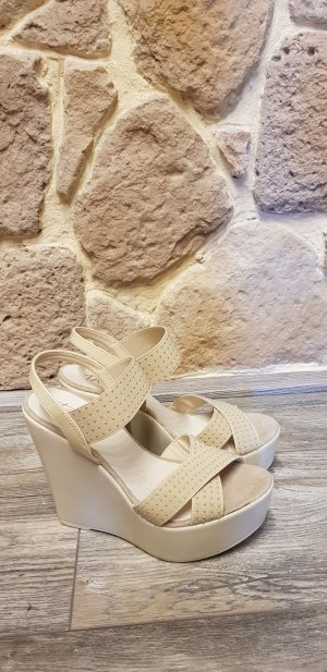 Taupage Platform High-Heeled Sandal nude