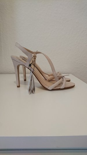 Mango Strapped High-Heeled Sandals oatmeal