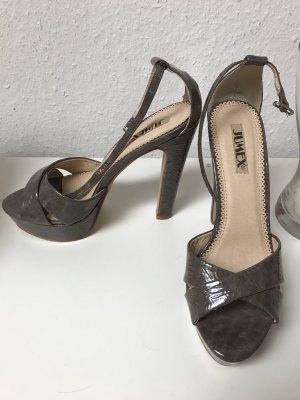 High-Heeled Sandals grey