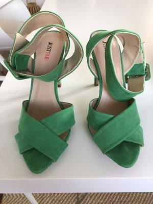 Just Fab High Heel Sandal green
