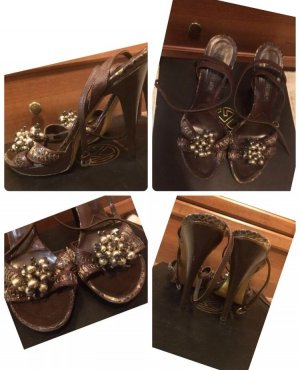High Heel Sandal brown-black brown