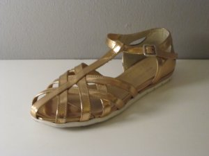 Comfort Sandals gold orange leather