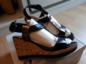 Sandaletten Lackleder Keilabsatz