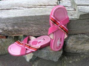 Sandaletten Leder / Stoff pink