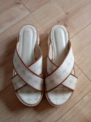 Joop! Sandales à talons hauts et plateforme cognac-blanc cassé