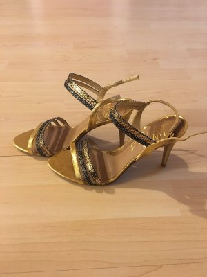 Lilly's closet Strapped High-Heeled Sandals gold-colored