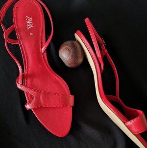 Zara Sandalen met bandjes en hoge hakken veelkleurig
