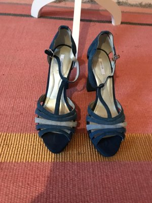 Geox High Heel Sandal steel blue-azure leather