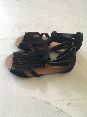 Sandaletten mit Fransen // Hippie-Look // Volcom