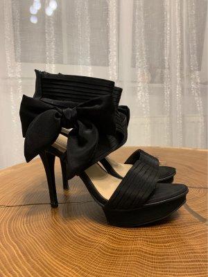 Catwalk Sandalen met bandjes en hoge hakken zwart