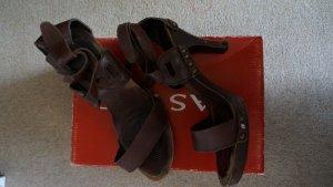 Sandaletten mit Holzabsatz