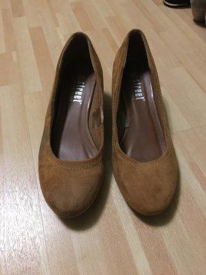Street Super Shoes Sandales à talons hauts orange doré