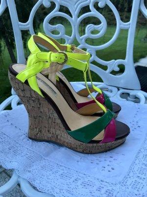Sandaletten mit Keilabsatz aus Kork Gr. 39