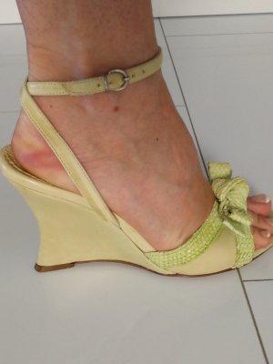 Sandaletten mit Keilabsatz Götz Leder Gr.36