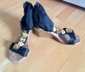 Sandaletten mit Keilabsatz-Größe 36