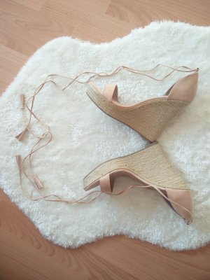 JustFab Wedge Sandals nude