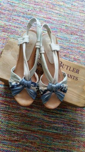 Platform High-Heeled Sandal slate-gray-natural white