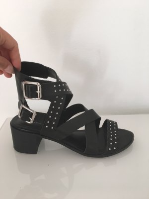 New Look Strapped High-Heeled Sandals black-silver-colored