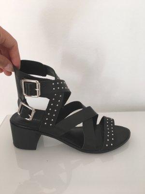 New Look Sandalias de tacón de tiras negro-color plata