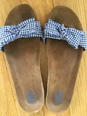 Sandaletten mit Pepita Stoff