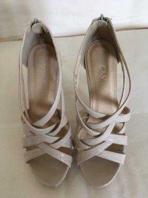 SDS Platform High-Heeled Sandal nude
