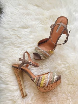 La Strada Strapped High-Heeled Sandals multicolored