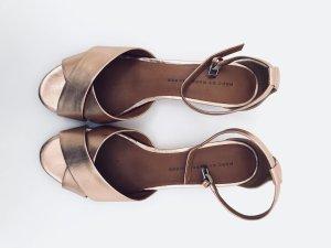 Sandaletten mit Riemchen in rosegold von Marc by Marc Jacobs, Gr. 40, Leder