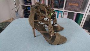 Sandaletten mit Schnürung khaki 39