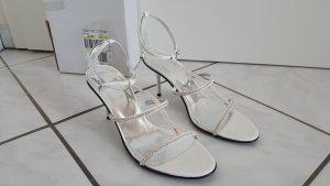 """Sandaletten mit Strass von Heine """" weiß """" Gr. 40 """" NEU !!!"""