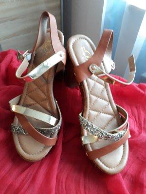 Divine Follie Platform High-Heeled Sandal multicolored