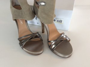 High Heel Sandal beige-sand brown leather