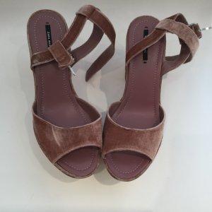 Zara Platform High-Heeled Sandal dusky pink