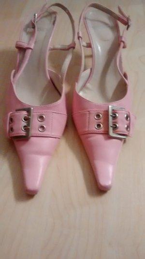 Sandaletten, rosa, spitz