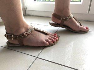 Sandaletten/Sandalen beige Gr.36