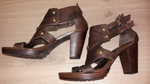 Oxmox High-Heeled Sandals brown