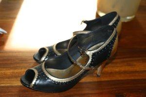 Sandaletten, schwarz-gold, edel!