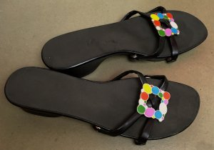 High-Heeled Sandals multicolored synthetic material