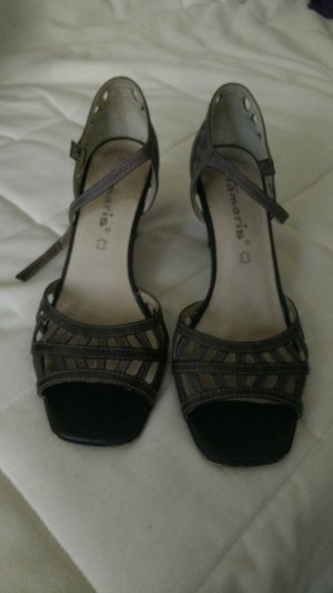 Tamaris High-Heeled Sandals grey brown
