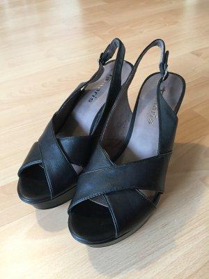 Tamaris Sandalias de tacón de tiras negro