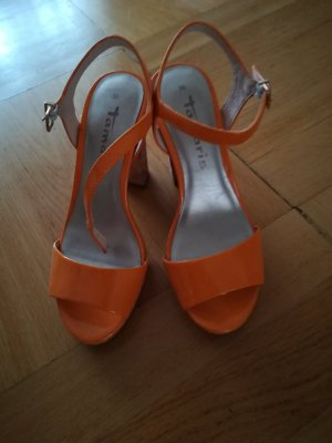 Tamaris High-Heeled Sandals gold orange