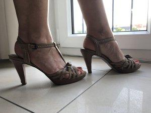 High Heel Sandal taupe-dark grey