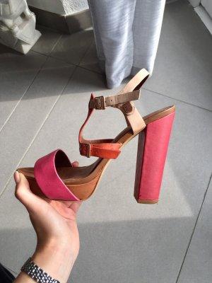 Tommy Hilfiger Platform High-Heeled Sandal multicolored leather