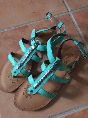 Tommy Hilfiger Denim High-Heeled Toe-Post Sandals turquoise